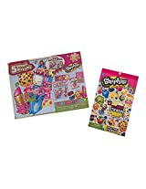 Shopkins Puzzle And Sticker Gift Bundle 2 Items One Shopkins Wood Puzzle 5 Pack And One Shopkins Collectable Sticker Pack
