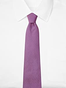 Hermès Men's Mini Triangle Tie with H Logo, Pink/Blue, One Size