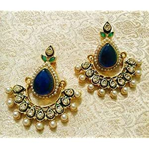 Earrings - Designer Bollywood Jhumka Jewellery Earrings For Navratri,Diwali,Wedding-LFER014