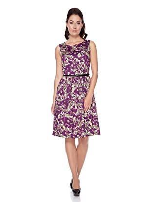 UNQ Kleid (violett flowers)