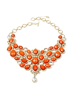 Amrita Singh Collar Crystal South Fork Bib Fall Coral