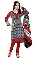 Krisha Womens Cotton Salwar Unstitched Dress Material (Rb-3001 _Red)
