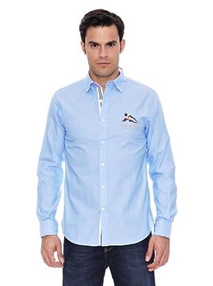 Pedro del Hierro Camisa Sport Coderas (Azul)