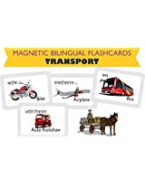 MFM Toys Means of Transport Bilingual (Hindi+English) Magnetic Flashcards