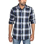 Radio Jockey Men's Slim Fit Cotton Checks Shirt(Large)