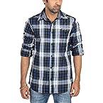 Radio Jockey Men's Slim Fit Cotton Checks Shirt(Large)