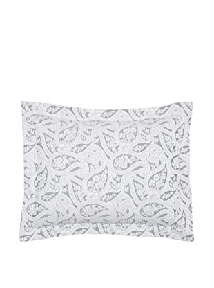 Belle Epoque Kashmir Paisley Pillow Sham (Black/White)