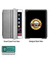 Universal Music Officially Licensed Guns n Roses -Logo Tablet Designer GRAY SMART CASE for APPLE IPAD AIR2