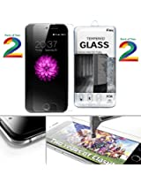 Pack of Two - Full Screen Anti-scratch Laser-cut tempered glass Protectors with Curved Edge, Cover Edge-to-Edge, Protect Your Phone from Drops & Impacts, HD Clear, Bubble-free Shockproof It's pressure-resistant & delivering an outstanding durability for your Smart Phone : Samsung Galaxy S6-Edge