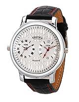 Exotica Analog White Dial Men's Watch (EF-82-Dual-White.)