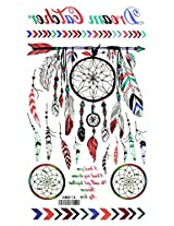 Spestyle New And Fashion Design Colorful Totem And Feather Fake Temp Tattoo Stickers