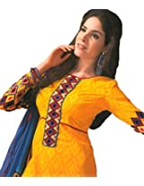 Ali Colours Cambric Pure Cotton Casual Wear Dress Material For Women