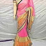 lycra designer Saree With dhupian blouse piece