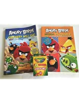Angry Birds Activity and Coloring Bundle Includes 2 Angry Bird Activity/coloring Books and 1 Box of