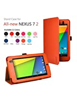 Exact Folio Case for Google Nexus 7 FHD 2nd Gen 2013 Android Tablet by Asus Orange