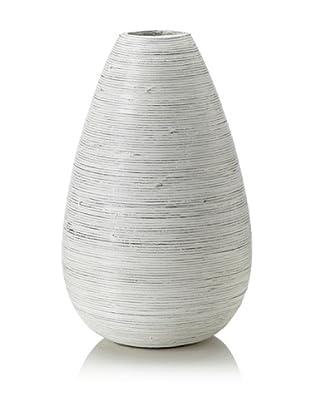 Design Ideas Setai Teardrop Vase, Whitewash