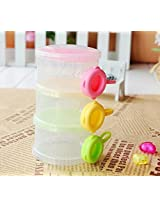 Rikang Three - Layered Transparent Color Plastic Baby Milk Food Powder Storage Case