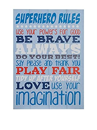 Premier Interior Panel Decorativo Kids Super Hero Rules