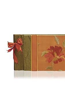 Molly West Crimson Bloom-Small Paper Album, Green/Orange