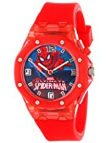 Marvel Ultimate Spider-Man  Kids' SPD3406 Analog Display Analog Quartz Red Watch