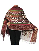 Indian Shawl Wrap Boiled Wool Womens Clothing Scarf Gift (80 x27 inches)