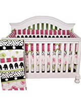 Cotton Tale Designs 4 Piece Hottsie Dottsie Crib Bedding Set