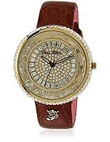 H Ph13575jsg/22A Brown/Golden Analog Watch Paris Hilton