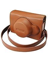 Pentax 85226 Q Vintage Leather Case (Brown)