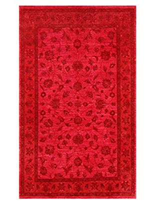 nuLOOM One-of-a-Kind Vintage Hand-Knotted Overdyed Rug, Fire Red, 5' x 8' 2