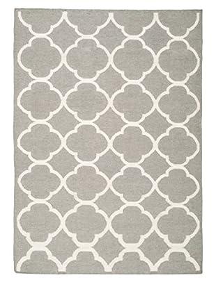 Safavieh Dhurrie Rug (Grey/Ivory)