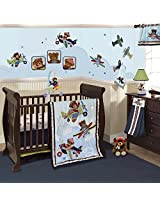 Lambs & Ivy Baby Aviator Bedding Set