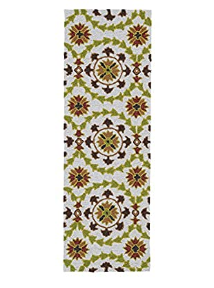 Kaleen Home & Porch Indoor/Outdoor Rug, Brown, 2' x 6' Runner