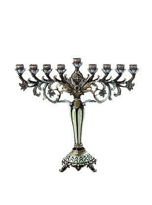 Legacy Judaica Jeweled Menorah, Green