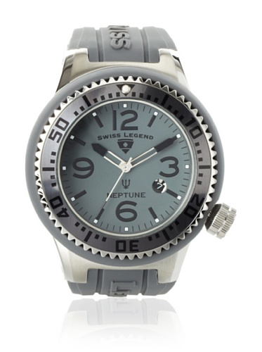 Swiss Legend Men's Neptune Grey Silicone Watch