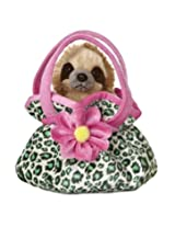 Aurora World Fancy Pals Plush Toy Pet Carrier, Sloth
