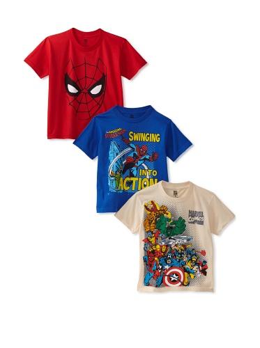 Freeze Boy's Marvel/Spider-Man T-Shirt Bundle (Royal/Red/White)