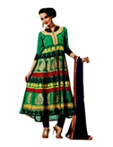 Triveni Faux Georgette Salwar Suit (TSHTXSUSK6713b_Green)