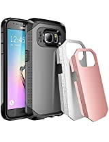 Galaxy S7 Case, E LV S7 (SHOCK PROOF DEFENDER) Case Cover - Three Pieces Interchangeable Armor Hybrid case Bundle for Samsung Galaxy S7 - [SILVER/GUNMETAL/GOLD]