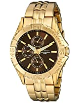 Armitron Men's 20/5071BNGP Multi-Function Dial Gold-Tone Bracelet Watch