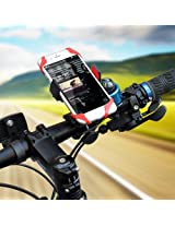 Bike Mount, HamFire Universal Smartphone Bicycle Handlebar & Motorcycle Holder Cradle for iPhone 6s /6 /5s /5c/5,Samsung Galaxy S5/S4/S3, Google Nexus 5/4, LG G3, HTC and GPS Device