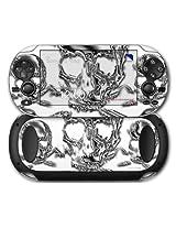 Sony Ps Vita Skin Chrome Skull On White By Wraptor Skinz