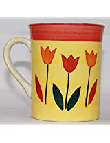 Odishabazaar Lovely Ceramic Coffee Mug (4x3.5x3) Inch