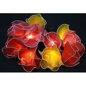 Fabric flowers fairy lights - Tulips