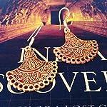 Engraved gheroo earrings in orange gold shades