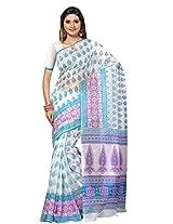 Triveni Cotton Traditional Saree (Tsmrccan1030 _White)