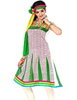 Cenizas Women Chiffon Dress Material Dress Material (Chtra523 _Multi-Coloured _Free Size)