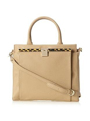 Ivanka Trump Women's Kristen Saffiano Top-Handle Bag, Beige
