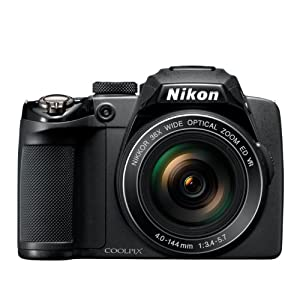 Nikon Coolpix P500 12.1MP CMOS Camera-Black
