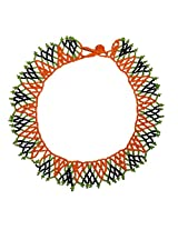 Beadworks Glass Multi-Strand Necklace For Women -Multi-Colour