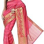 Multi Kanjivaram Tassar Silk Saree With blouse piece